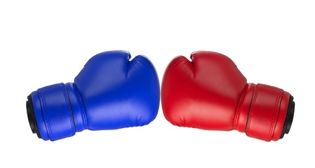boxing glove: Boxing gloves on a white background close up Stock Photo
