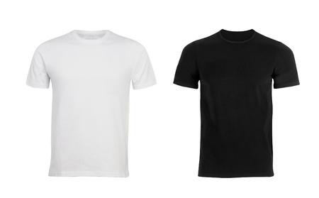 흑인과 백인 남성 T-셔츠