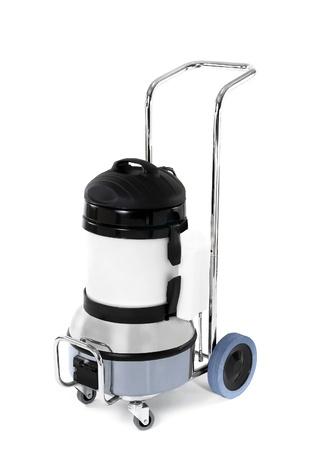 Vacuum Cleaner - Retro isolated on white photo