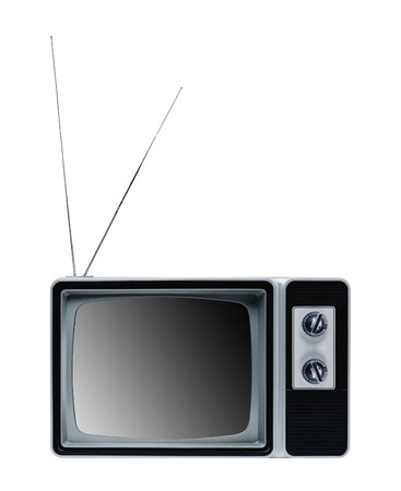 vintage tv isolated photo