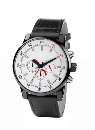 dialplate: Wristwatch on a white background