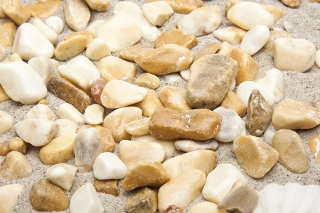 closeup of a pile of pebbles