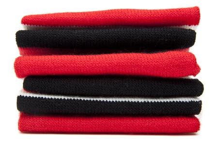 sciarpe: Pila di sciarpe piegate