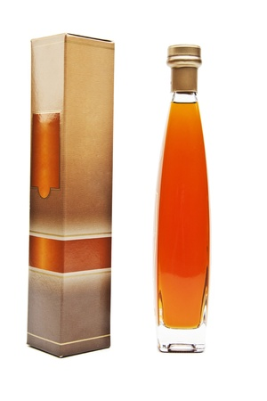 Cognac in bottle without labels photo