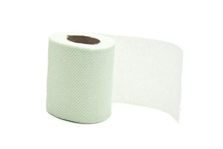 Simple toilet paper on white background Stock Photo - 21994445