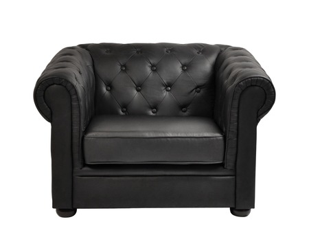 expensive leather arm chair photo