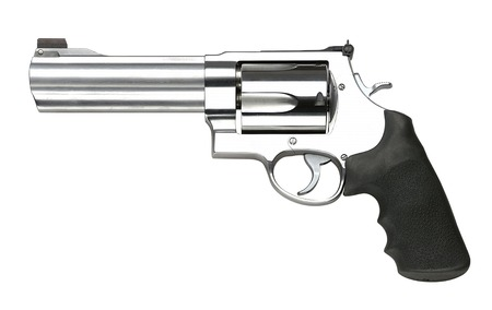 magnum: Revolvers on white background Stock Photo