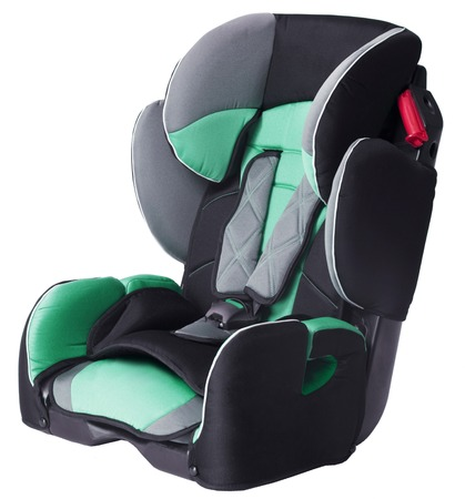 car seat: childs car seat isolated on a white background