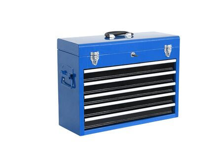 toolbox: blue toolbox isolated on white