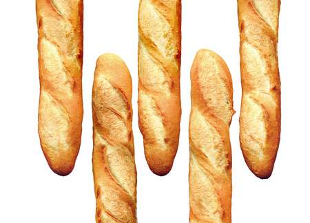 French Bread Baguette isolated photo