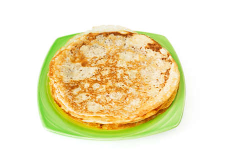 shrove tuesday: homemade pancakes pile on plate