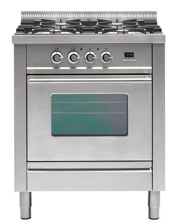 gas cooker: cocina de gas sobre el fondo blanco