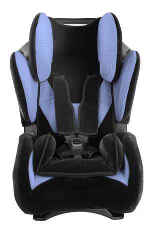 child's car seat isolated on a white background