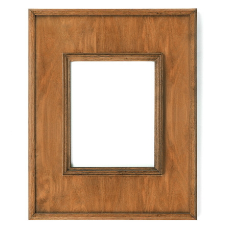 plated: Vintage picture frame, wood plated,