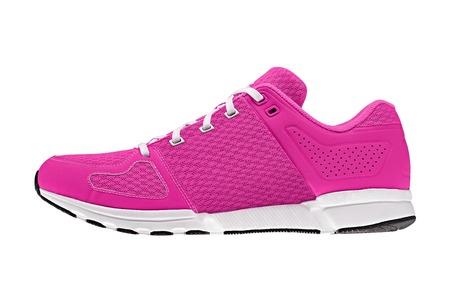 De color rosa para mujer zapatillas de deporte Foto de archivo - 22182627