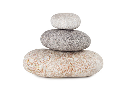 pile of stones isolated on white background photo