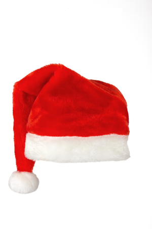 Santa claus red hat on white background photo