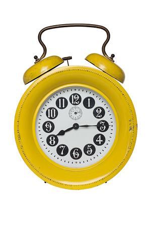 Old alarm clock isolated on white Stock Photo - 22183612