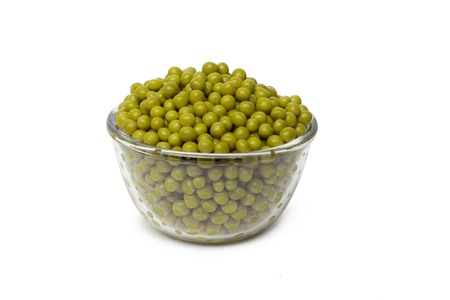 Pea Pod in bowl on a white background photo