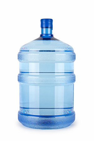 large bottle of pure water on a white background