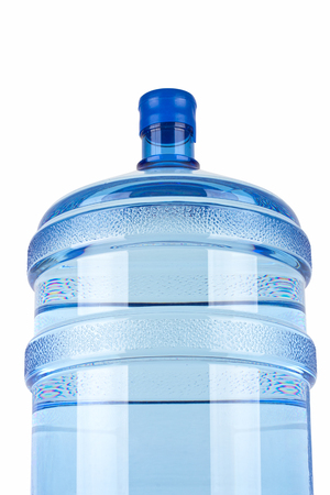big bottle of water for delivery, isolated on white photo