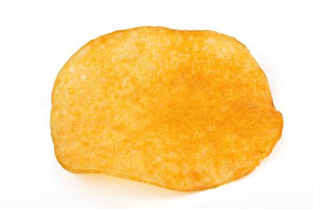 One potato chips isolated on a white background Reklamní fotografie