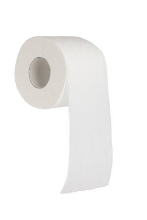 Simple toilet paper on white background Stock Photo - 22184065