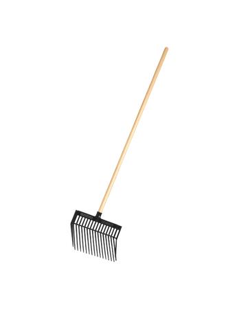 hayfork: Garden fork isolated on white Stock Photo