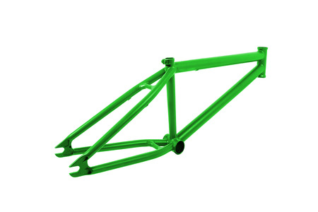 Bicycle frame isolated on white photo