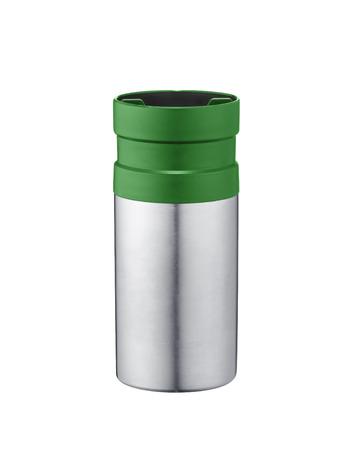 homeware: Vacuum Flask on White background Stock Photo