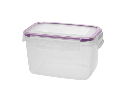purpule: Plastic container isolated on white
