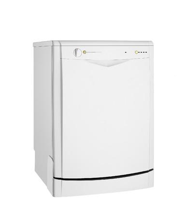 Modern freestanding dishwasher isolated on white Stock Photo