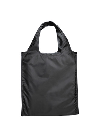 carryall: Black beamless fashion paper-bag with cords.
