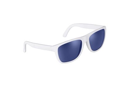 White sunglasses isolated on white photo