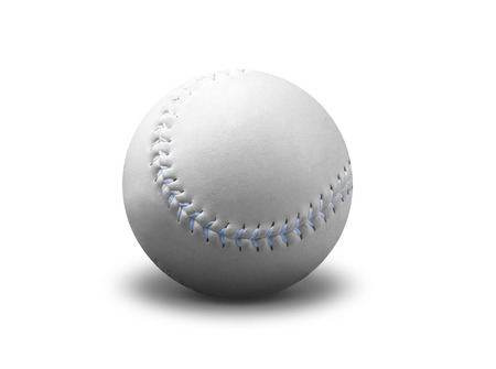outfielders: Baseball ball isolated on white Stock Photo