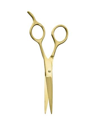 a pair of golden vintage scissors photo