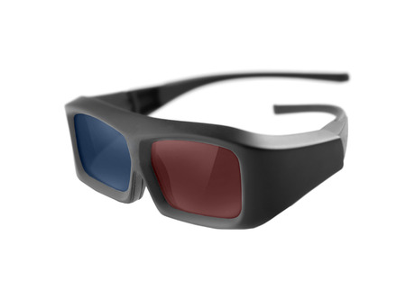 3D glasses isolated on white background photo