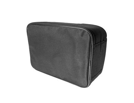 Black bag isolated on white photo