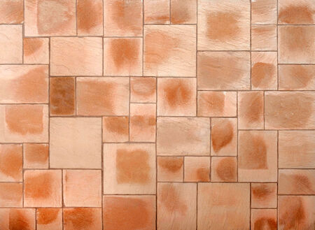 Beige and brown floor tiles photo