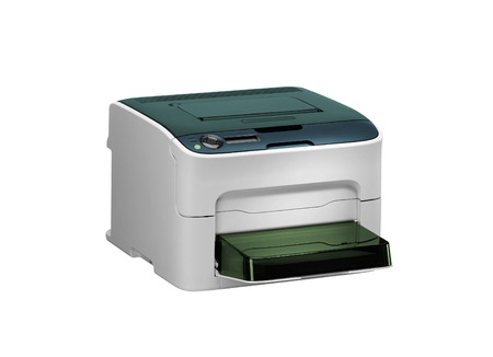 xerox: All in one printer scaner isolated on white Stock Photo