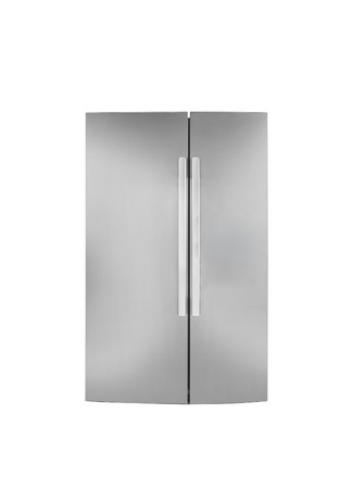 Two door refrigirator.On a white background. photo