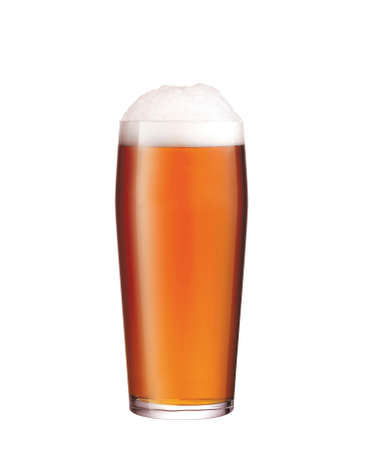 glass with beer on white background Stock Photo - 27169964