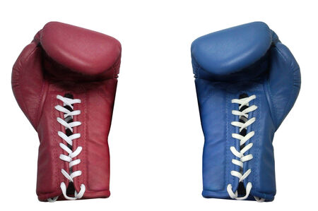 two boxing glove on a white background close up photo