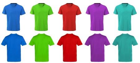 Color t-shirts design photo