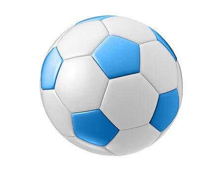 blue football ball photo