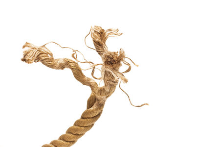 rope on a white background photo