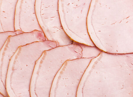 jambon: slices of ham as a background Stock Photo