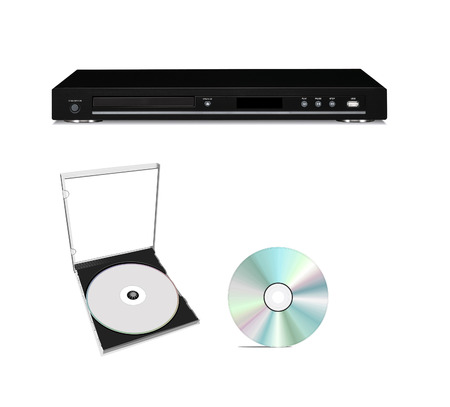 DVD player with cd disk isolated