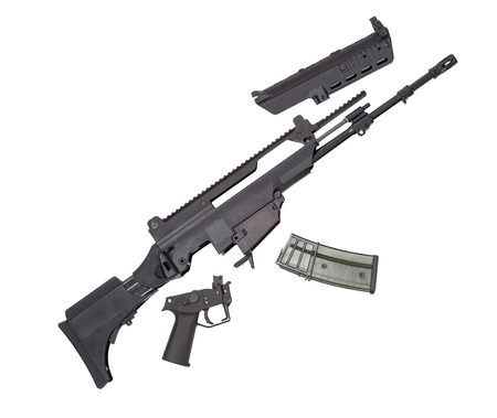weapon: Advanced automatic weapon Stock Photo