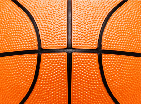 basketball dunk: basketball close-up shot or texture